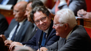 Le député Les Républicains Frédéric Lefebvre, le 11 juin 2013, sur les bancs de l'Assemblée nationale.