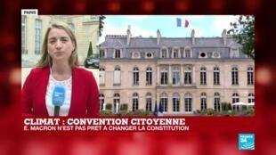 """2020-06-29 12:43 Convention citoyenne pour le climat : Emmanuel Macron salue une """"démocratie délibérative"""""""