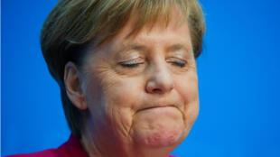 La canciller de Alemania, Angela Merkel, durante una conferencia de prensa en Berlín este 29 de octubre de 2018, luego de las elecciones en el estado de Hesse