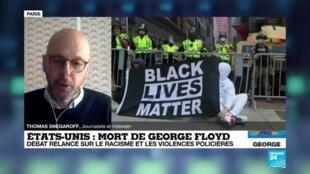 """2020-06-10 09:03 Mort de George Floyd : """"Attendons avant de dire que tout va changer en Amérique"""""""