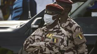 الجنرال محمد إدريس ديبي رئيس المجلس الانتقالي العسكري في تشاد في 09 نيسان/ابريل 2021