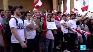 2019-10-22 08:08 Lebanon's students take to the streets to change the country's 'sectarian system'