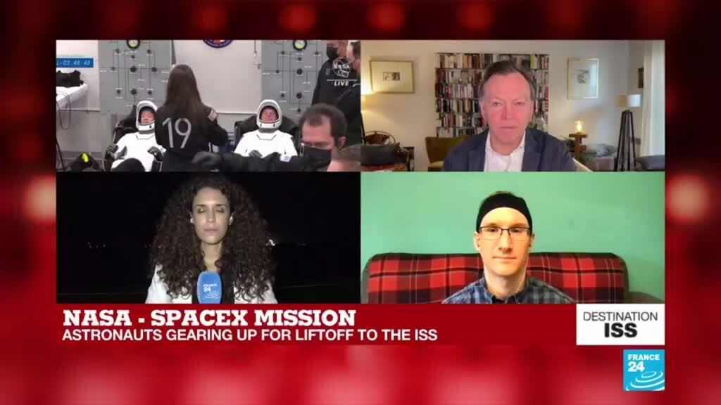 2021-04-23 08:01 Astronauts gear up ahead of liftoff to ISS