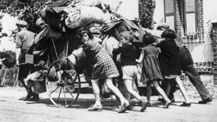 Millions of Parisians fled the French capital in June 1940.