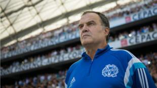 L'entraîneur argentin de l'OM, Marcelo Bielsa.