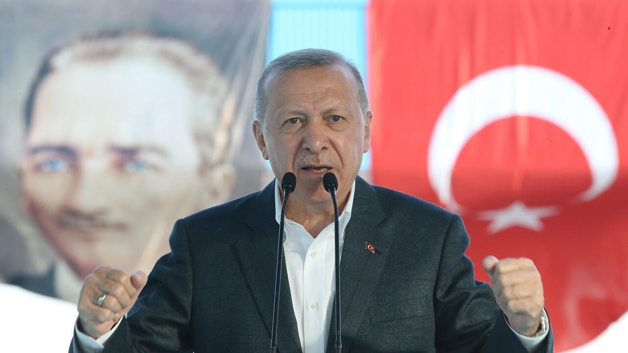 El presidente turco, Recep Tayyip Erdogan, durante un discurso en Ankara, Turquía, el 4 de septiembre de 2020.