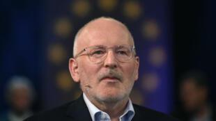Frans Timmermans, l'actuel premier vice-président de la Commission européenne, le 7mai2019, à Cologne.