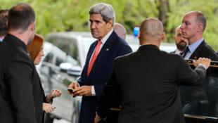Arrivée du chef de la diplomatie américaine, John Kerry, à Genève