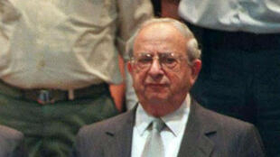 AFP / Jim Holender | A file picture taken on May 18, 1998 shows former Israeli president Yitzhak Navon attending President Ezer Weizman's swearing in ceremony at the Israeli parliament in Jerusalem