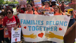 Numerosas manifestaciones en rechazo ha generado la política del Gobierno de Estados Unidos de separar las familias que cruzan la frontera. Miramar - Florida, 18/07/2018.