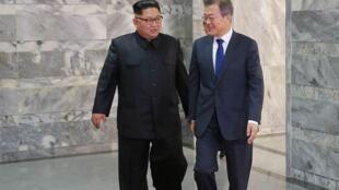 Les dirigeants de la Corée du Nord et de la Corée du Sud se sont rencontrés une seconde fois à la frontière entre les deux pays, le 26 mai 2018.