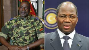 Le général Gilbert Diendéré et Djibrill Bassolé, ancien ministres des Affaires étrangères de Blaise Compaoré.