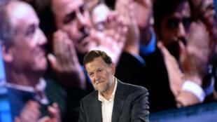 Le Premier ministre conservateur espagnol Mariano Rajoy lors d'un meeting de campagne à Coruna, le 16 décembre 2015.