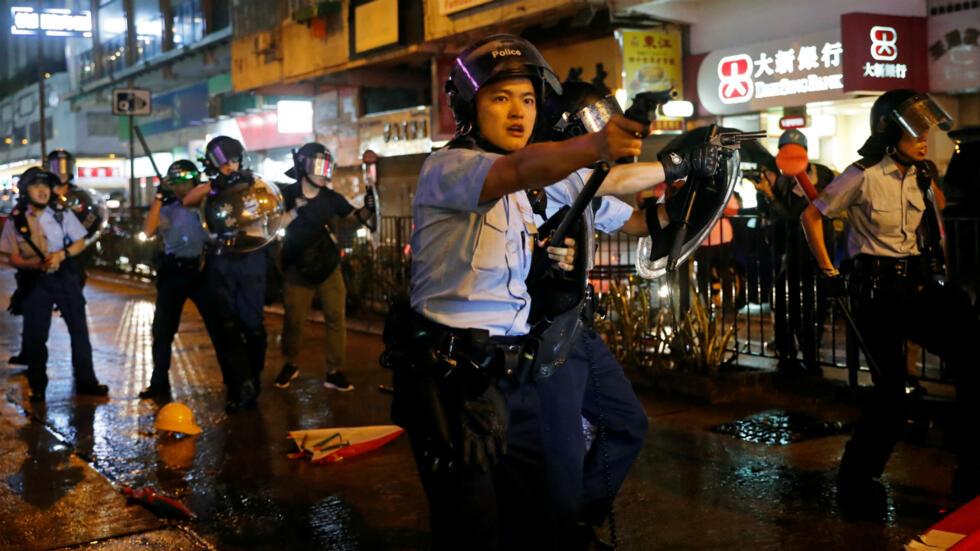 """Resultado de imagen para Manifestantes de Hong Kong culpan a policía de muerte de estudiante"""""""