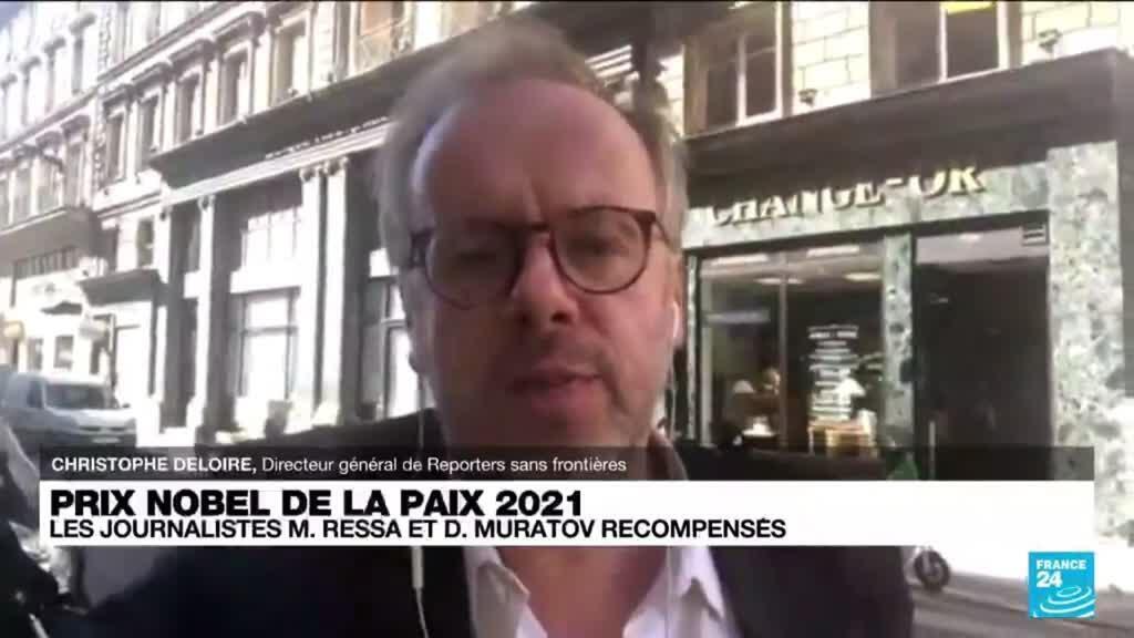 """2021-10-08 15:07 Le Nobel de la paix : """"C'est le courage journalistique qui a été récompensé"""" selon RSF"""