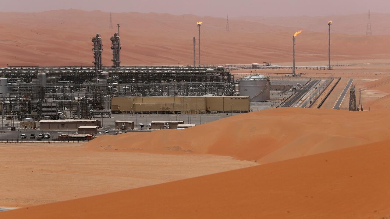 منظر عام لحقل شيبة النفطي التابع لشركة أرامكو السعودية، المملكة العربية السعودية،  22 أيار/مايو 2018.