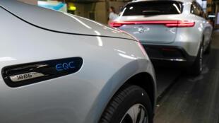 Un coche eléctrico GLC, fotografiado en la fábrica del grupo Mercedes-Benz en Bremen, Alemania, el 29 de enero de 2020