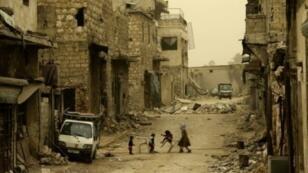 أطفال في شوارع حلب ، 17 مارس/آذار 2017