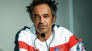 France Davis Cup captain Yannick Noah is pictured in this file photo taken in September 2018 at a press conference in Villeneuve-d'Ascq, France.