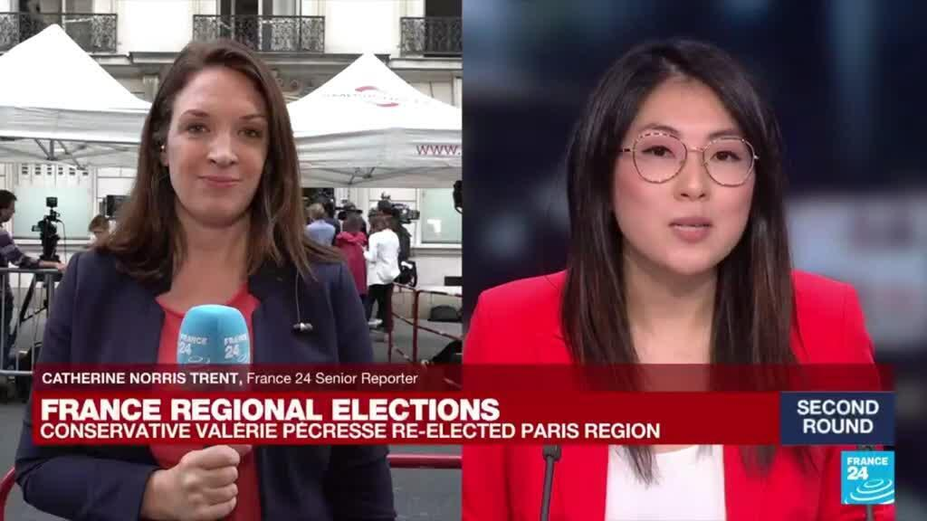 2021-06-27 21:01 French conservative Valérie Pécresse re-elected in greater Paris region