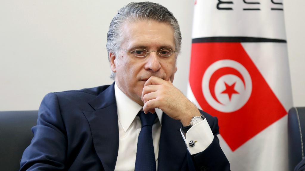 El magnate de la comunicación Nabil Karoui accede a la segunda vuelta de las elecciones presidenciales.