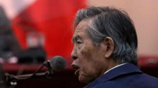 Imagen de archivo. Alberto Fujimori se presenta como testigo a un juicio en la Base Naval de Callao, Perú, el 15 de marzo de 2018.