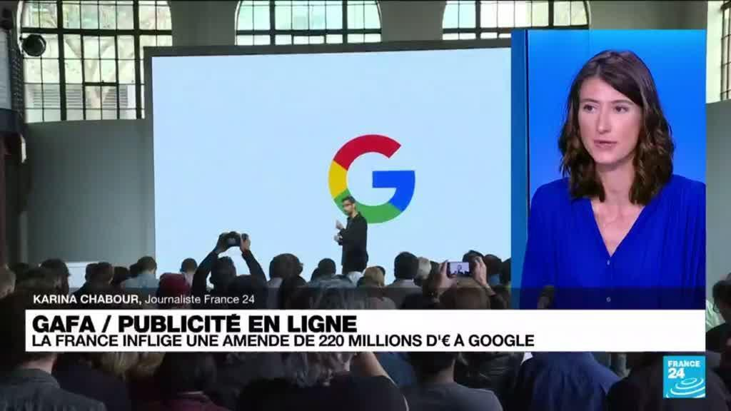 2021-06-07 13:39 Publicité en ligne : la France inflige une amende de 220 millions d'euros à Google