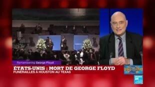"""2020-06-09 18:31 Affaire G. Floyd : """"Donald Trump continue de creuser le gouffre avec les Américains"""""""