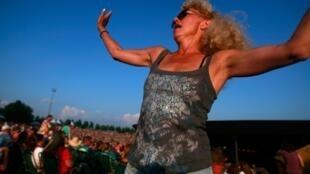 Le concert des 40 ans de Woodstock, en août 2009