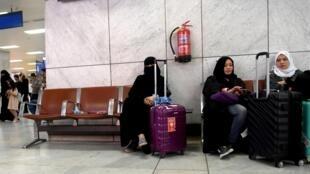 Des femmes à l'aéroport de Jeddah, le 6 août 2019.