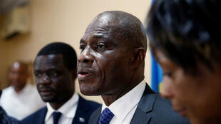 Martin Fayulu durant une conférence de presse à Kinshasa le 8 janvier 2019.