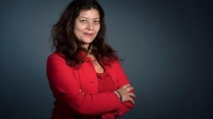 La journaliste Sandra Muller, le 14 mars 2018 à Paris