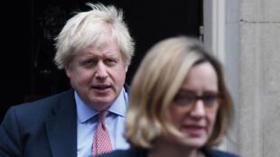 Boris Johnson era secretario de Asuntos Exteriores cuando Amber Rudd era ministra del Interior, en diciembre de 2017.
