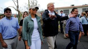 El presidente de Estados Unidos, Donald Trump, visitó Puerto Rico luego del paso del huracán María. Ricardo Rosselló le acompañó durante la visita.