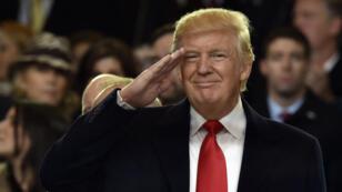 Le président américain Donald Trump lors de la parade de la cérémonie d'investiture