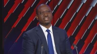 Guillaume Soro, candidate in Ivory Coast's presidential election (archive photo). France 24 screen grab.