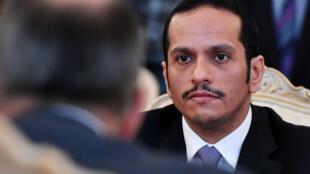 Le ministre qatari des Affaires étrangères, Mohammed ben Abderrahmane Al-Thani, le 10 juin 2017 à Moscou.