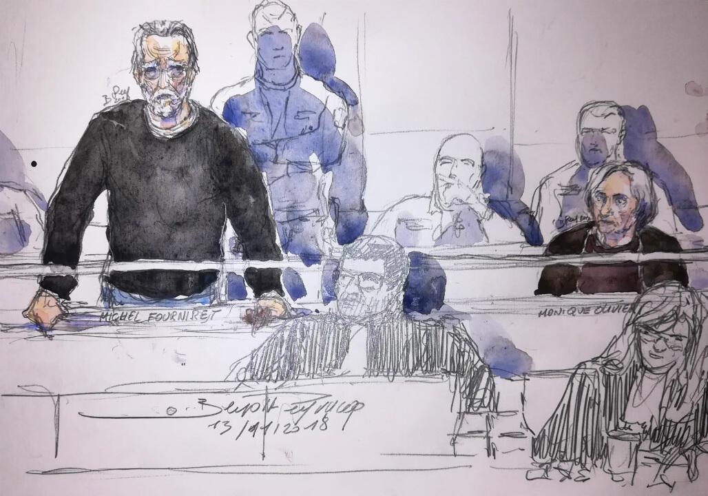 Michel Fourniret et Monique Olivier durant leur procès en novembre 2018.