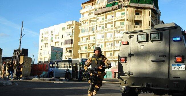 قوات الأمن المصرية خلال عملية أمنية
