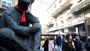 A statue of Nikola Tesla, a pioneer of modern electrical engineering, and a source of pride for Croatia and Serbia