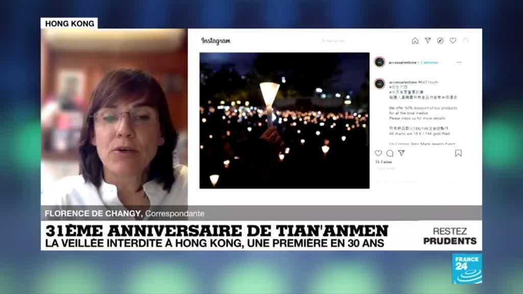 2020-06-04 08:01 31ème anniversaire de Tiananmen : Veillée interdite à Hong Kong, une première en 30 ans