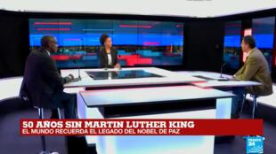 Liliana Valencia expuso las principales obras de Martin Luther King en un programa especial de France 24