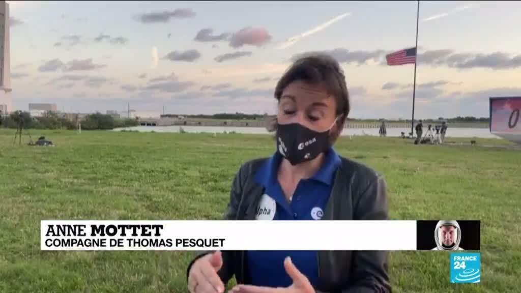 2021-04-23 14:05 Anne Mottet, la compagne de Thomas Pesquet, revient sur les derniers moments avant le décollage vers l'ISS