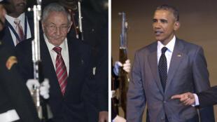 Arrivés chacun de leur côté jeudi soir à Panama, Barack Obama et Raul Castro se retrouvent  vendredi.