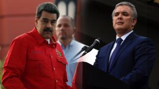 El presidente de Venezuela, Nicolás Maduro, y su homólogo colombiano, Iván Duque.
