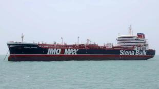 El petrolero británico Stena Impero, atracado en el puerto de Bandar Abas, en Irán, el 20 de julio de 2019.