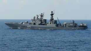 Un destroyer russe dans le golfe d'Aden en 2009.