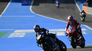 Yamaha's Vinales (L) was quickest in testing
