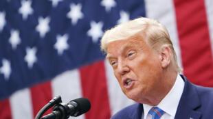 الرئيس الأميركي دونالد ترامب في البيت الأبيض بتاريخ 28 أيلول/سبتمبر 2020