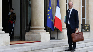 Jean-Michel Blanquer, ici sur le perron de l'Elysée le 18 mai, participait, à son premier Conseil supérieur de l'éducation (CSE) jeudi 8 juin.